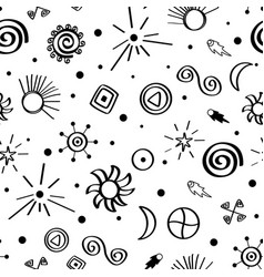 seamless pattern with sky symbols vector image