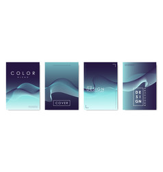 set of covers design templates with vibrant vector image