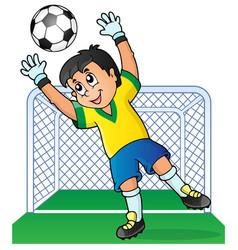 Soccer theme image 3 vector
