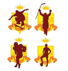Sports emblem2 vector image