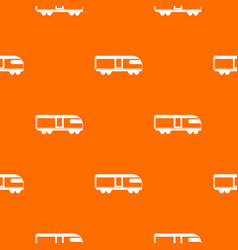 Swiss mountain train pattern seamless vector