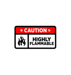Symbol and logo about warning highly flammable vector