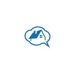 talk think home house dreams for logo vector image