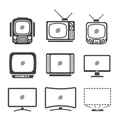 television icon vector image