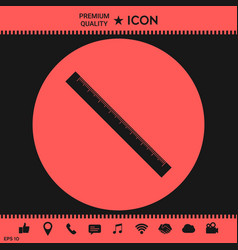 the long ruler icon vector image vector image