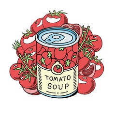 tomatoes soup made organic vegetables banner vector image