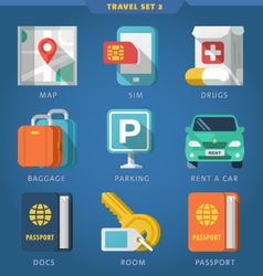 Travel icon set 2 vector image