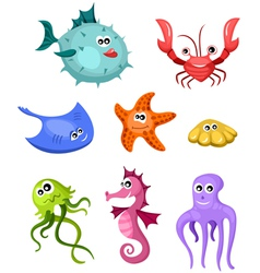 Underwater set vector