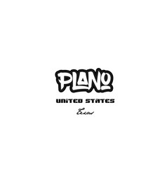 United states plano texas city graffitti font vector