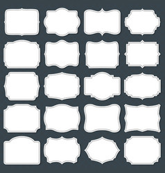 Vintage cardboard blank labels old fashion vector