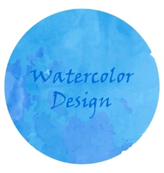 Watercolor deep blue vector image