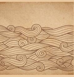 Waves on cardboard vector