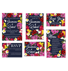wedding and marriage invitation templates vector image