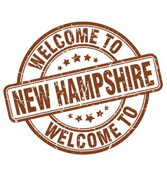 Welcome to new hampshire brown round vintage stamp vector