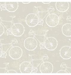 aged vintage bike pattern vector image vector image