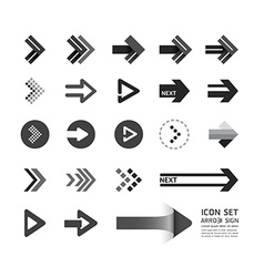 arrow icons design set vector image