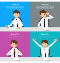 Businessman manager consultant at work vector image