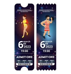 circus tickets design in vector image vector image
