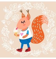 Cute squirrel vector image vector image