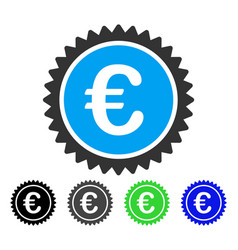 european quality stamp flat icon vector image vector image