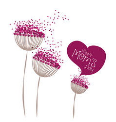 happy moms day greeting card floral vector image vector image