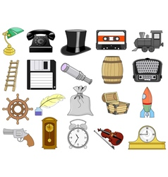 home related objects vector image
