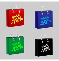Set sale packages vector