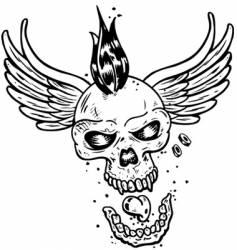 tattoo skull vector image