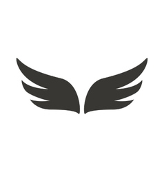 A pair of abstract black wings icon simple style vector image vector image