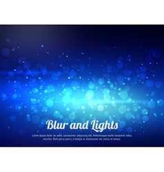Abstract blue colorful bokeh background Festive vector image vector image