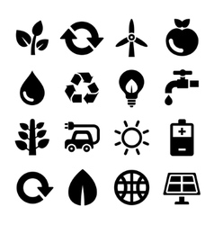 Ecology and Recycle Icons Set vector image vector image