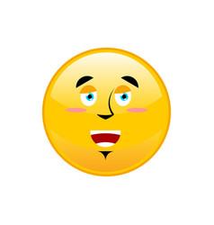 funny emoji isolated cheerful yellow circle vector image vector image
