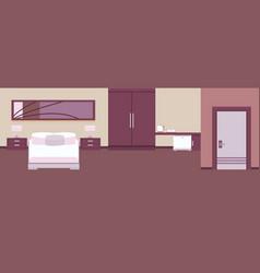 interior hotel room vector image