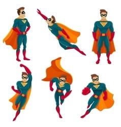 Superhero Actions Icon Set vector image vector image