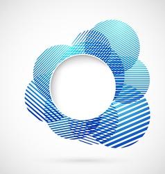 Blue sign design element notifier vector image
