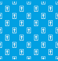 idea lamp on gadget screen pattern seamless blue vector image vector image