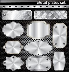 Metal plates set vector image vector image
