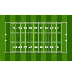 Overview of American Football Field vector image