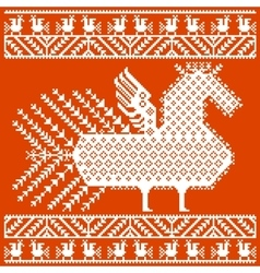 Russian and ukrainian folk embroidery patterns vector image