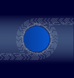 white chalk technology on blue background vector image