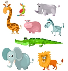 African animal set vector