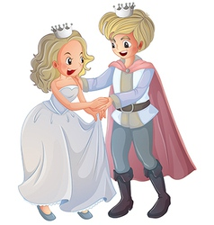Cartoon Prince Princess vector image vector image