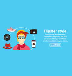 hipster style banner horizontal concept vector image vector image