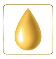 Oil drop icon golden vector image