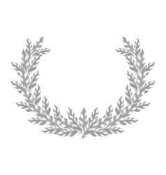 Realistic Silver Laurel Wreath vector image vector image