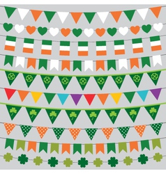 St Patricks Day decoration set vector image