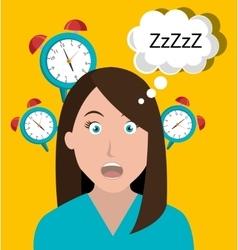 Woman waking up cartoon vector image
