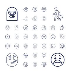 37 character icons vector