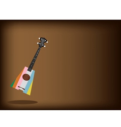 A Beautiful Ukulele Guitar on Brown Background vector