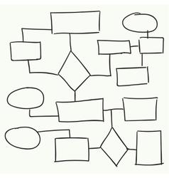 Abstract flowchart design vector
